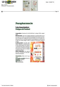150900- LERO BASE JUNIORS LE QUOTIDIEN DU PHARMACIEN