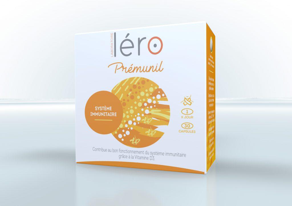 Boite capsules Léro Prémunil - bon fonctionnement défenses immunitaires